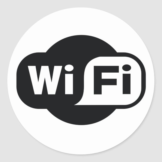 Classic WiFi symbol in black and white Classic