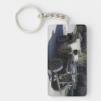 Classic Willys Jeep Double-Sided Rectangular Acrylic Key Ring