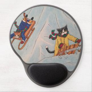 Classic Winter Sledging Gel Mouse Mat