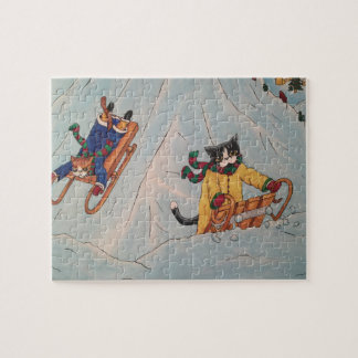 Classic Winter Sledging Jigsaw Puzzle