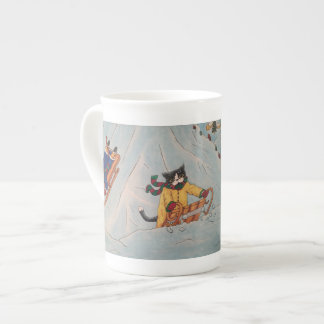 Classic Winter Sledging Tea Cup
