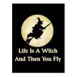 Classic Witch Saying Postcards