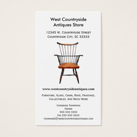 Classic Wood Windsor Chair Furniture Antique Store Business