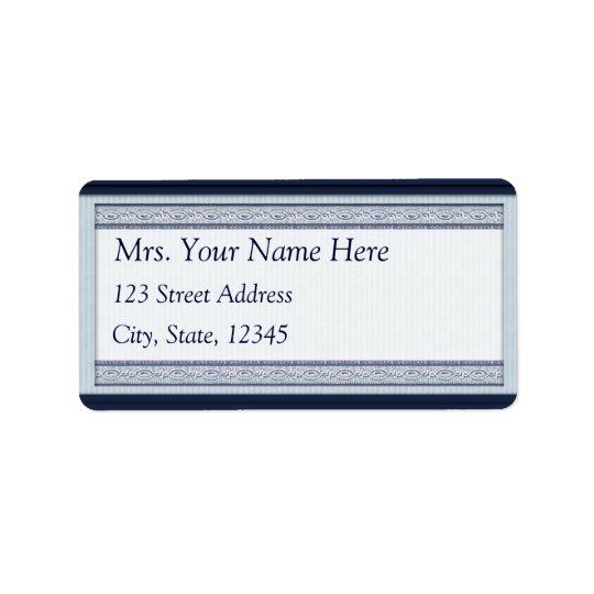 Classic Woodcut Blue Address Lables Label