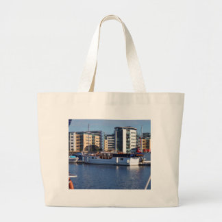 Classic Wooden Motor Boat Tote Bags