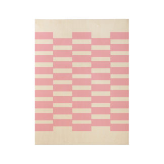 Classic wooden Poster with pink Blocks