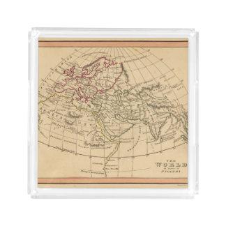 Classic World Map Acrylic Tray