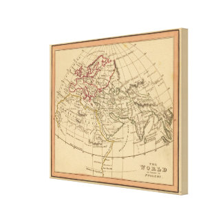 Classic World Map Canvas Print