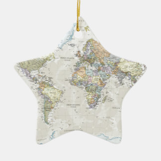 Classic World Map Christmas Ornament