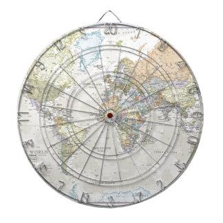 Classic World Map Dart Boards
