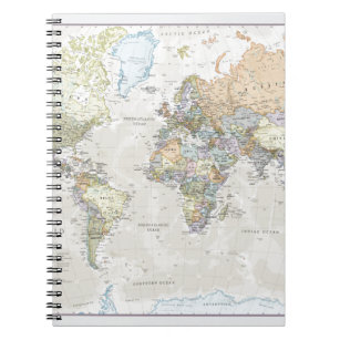 World map notebooks journals zazzle classic world map notebook gumiabroncs
