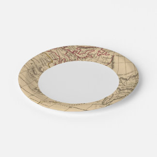Classic World Map Paper Plate