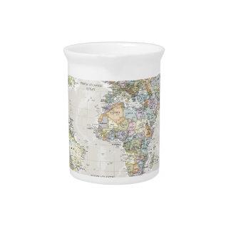 Classic World Map Pitcher