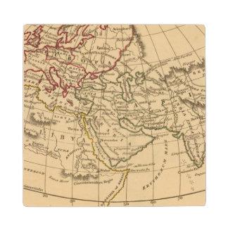 Classic World Map Wood Coaster