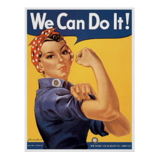 Classic WWII We Can Do It Print