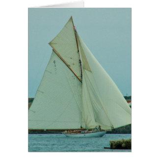 Classic Yacht Mariquita Greeting Card