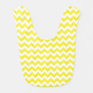 Classic Yellow and White Chevron Pattern Bib