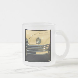 Classic yellow car frosted glass mug