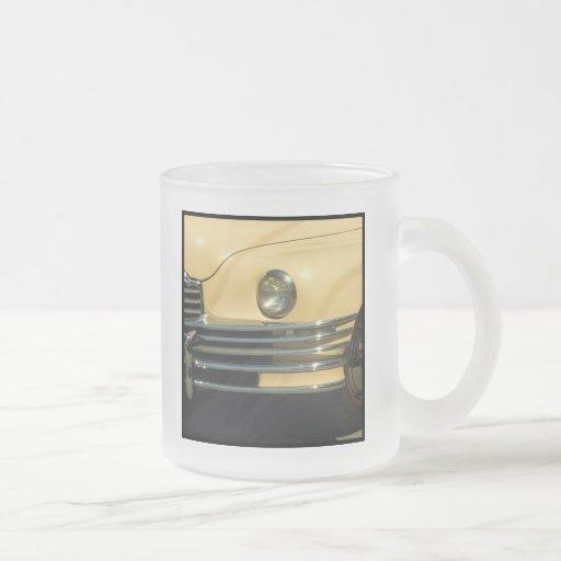 Classic yellow car coffee mug