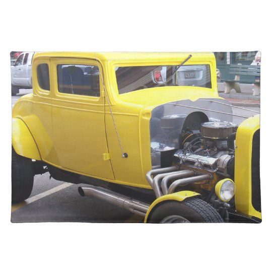 Classic yellow car placemats