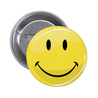 Classic Yellow Happy Face 6 Cm Round Badge