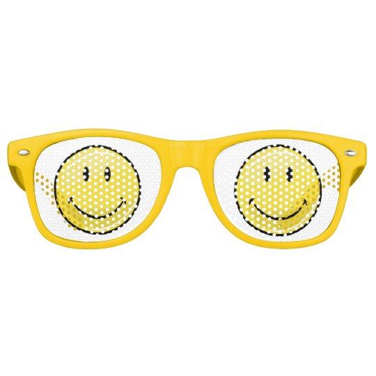 Classic Yellow Happy Face Retro Sunglasses