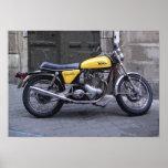 CLASSIC YELLOW MOTORCYCLE PRINT