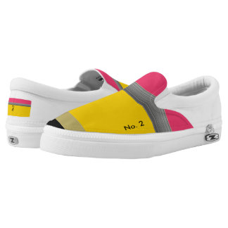 Classic Yellow No. 2 Pencil Shoes - Fun Canvas Sho
