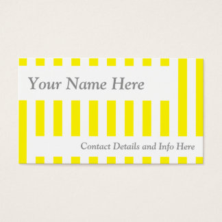 Classic Yellow Retro Stripes Business Card