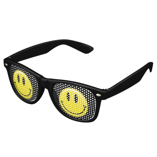 Classic Yellow Smiley Face Retro Sunglasses