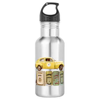 Classic Yellow Vintage Car 532 Ml Water Bottle