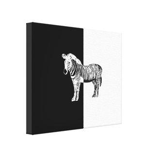 Classic zebra black and white canvas print