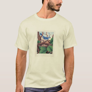 Classic Zoological Etching - Blue Jays T-Shirt