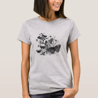 Classic Zoological Etching - Butterfly T-Shirt
