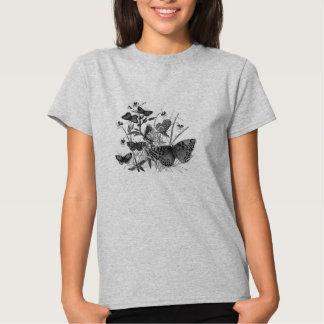 Classic Zoological Etching - Butterfly Tshirts