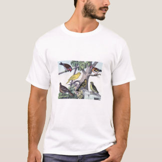 Classic Zoological Etching - Finches T-Shirt