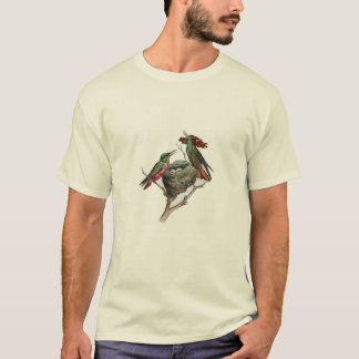 Classic Zoological Etching - Hummingbird T-Shirt