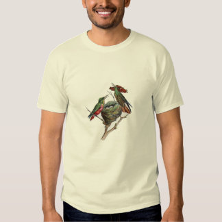 Classic Zoological Etching - Hummingbird T-shirts