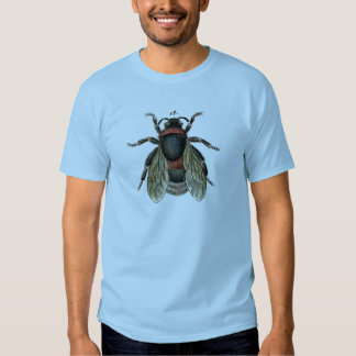 Classic Zoological Etching of a Bumble Bee T-shirts
