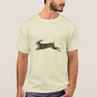 Classic Zoological Etching - Rabbit T-Shirt