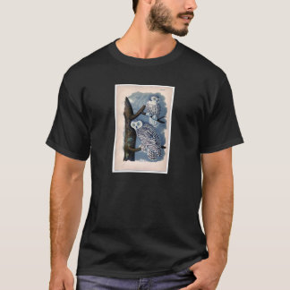 Classic Zoological Etching - Snowy Owl T-Shirt