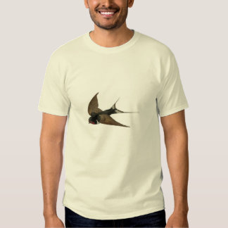Classic Zoological Etching - Swallow Tshirt