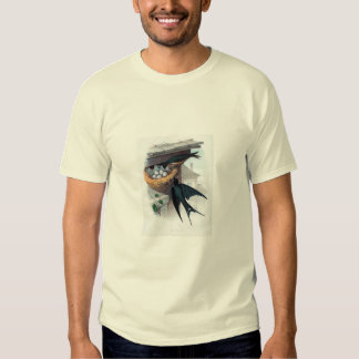 Classic Zoological Etching - Swallows Tee Shirt
