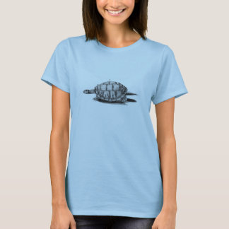 Classic Zoological Etching - Turtle T-Shirt