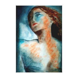 classical angel study canvas print