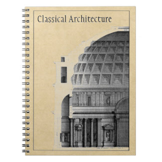 Classical Architecture of the Pantheon Customized Notebook