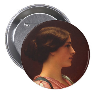 Classical Beauty by John William Godward 7.5 Cm Round Badge