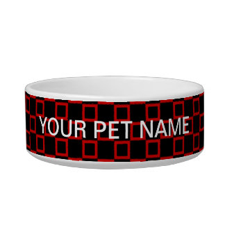 Classical black and red Pet Bowl