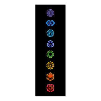 classical chakras pack of skinny business cards