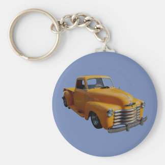 Classical Chevrolet Basic Round Button Key Ring